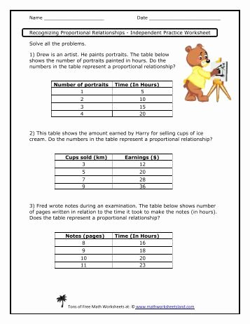 Graphing Proportional Relationships Worksheet Elegant Graphs Of Proportional Relationship Independent Practice