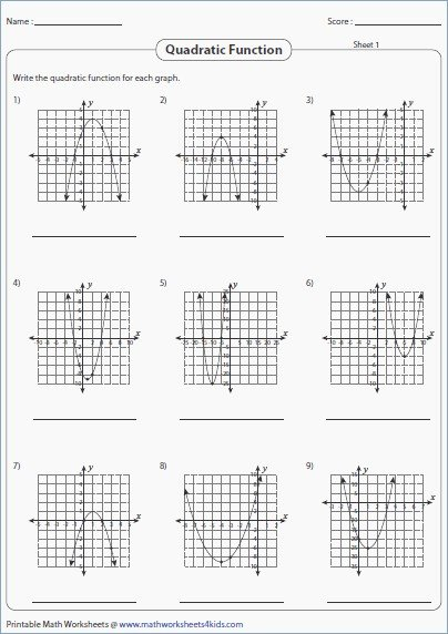 Graphing Quadratic Functions Worksheet Answers Best Of Graphing Quadratic Functions Worksheet Answers the Best