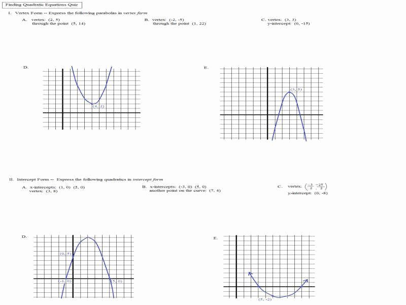 Graphing Quadratic Functions Worksheet Answers Inspirational Quadratic Functions Worksheet
