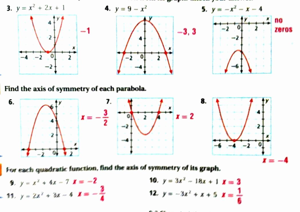 Graphing Quadratic Functions Worksheet Answers Luxury solving Quadratic Equations by Graphing Worksheet Answers