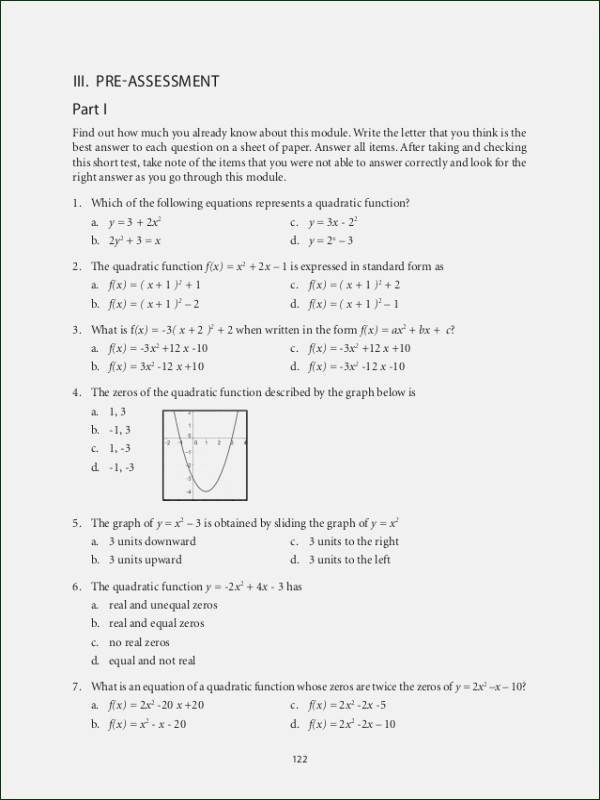 Graphing Quadratic Functions Worksheet Answers New 24 Graphing Quadratic Functions Worksheet Answers Algebra