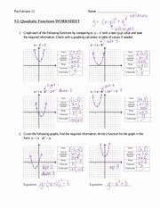 Graphing Quadratic Functions Worksheet Answers Unique 3 1 Transformations Of Quadratic Functions 3 1 Y X2 Y X