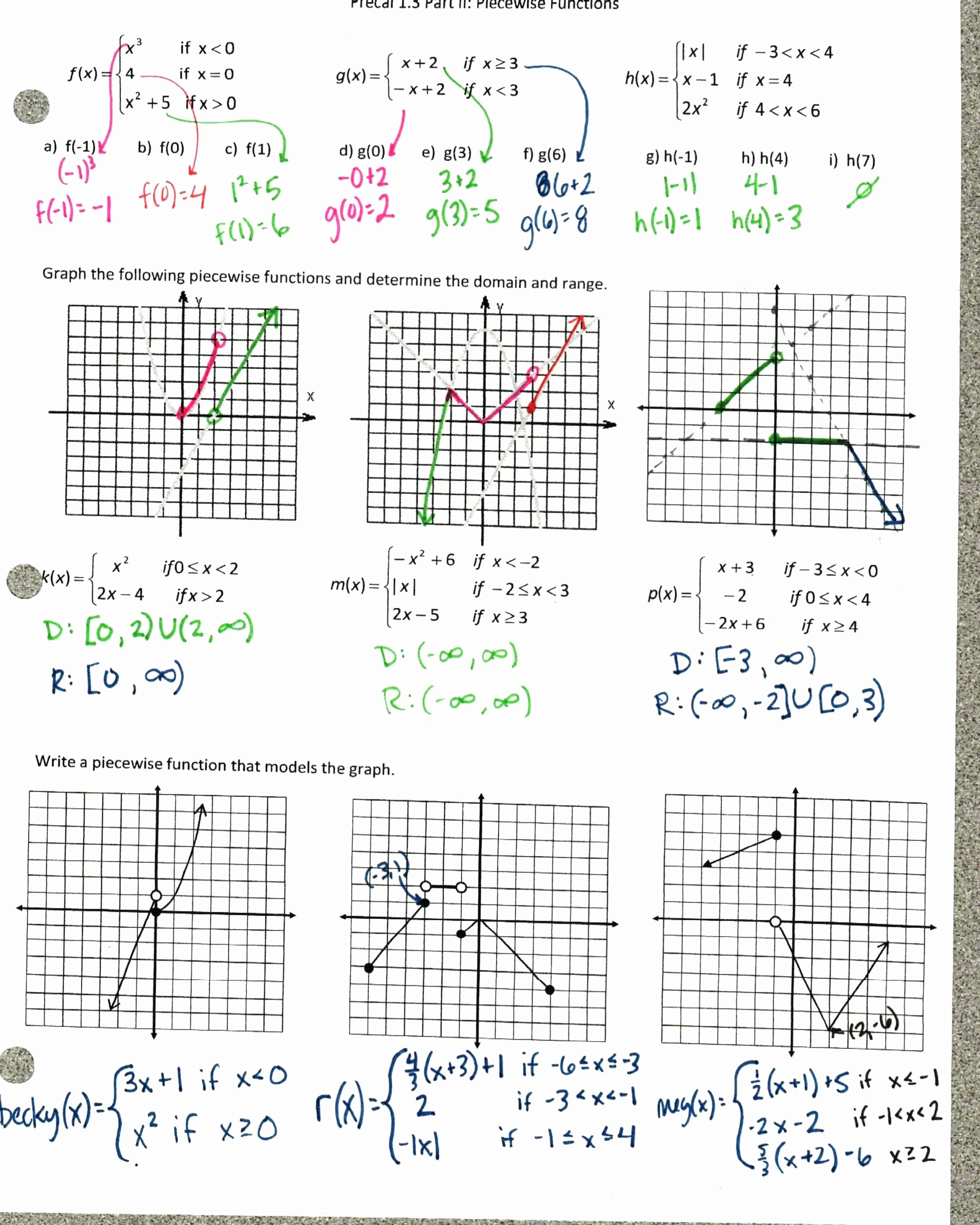 Graphing Quadratic Functions Worksheet Answers Unique Graphing Quadratic Functions Worksheet Answer Key