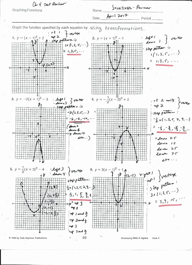 Graphing Quadratics Review Worksheet Elegant Graphing Quadratics Review Worksheet