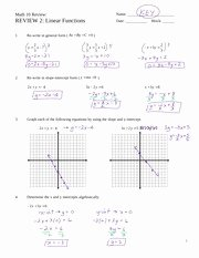 Graphing Quadratics Review Worksheet New Quadratic Functions Worksheet Answers Pre Calculus 11