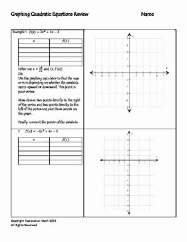 Graphing Quadratics Review Worksheet New This Worksheet is A Review Of Graphing Quadratic Equations
