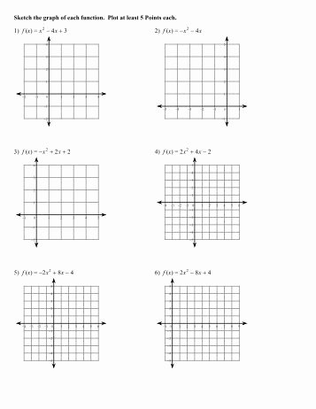 Graphing Quadratics Worksheet Answers Fresh Graphing Parabolas Worksheet 2 with Answer Key