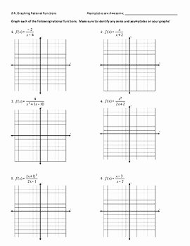 Graphing Rational Functions Worksheet Beautiful Graphing Rational Functions Worksheet Answer Key by