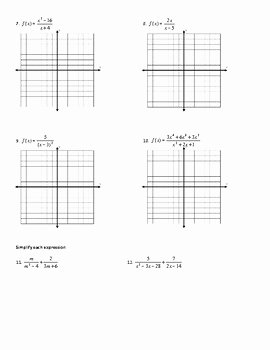 Graphing Rational Functions Worksheet Beautiful Graphing Rational Functions Worksheet Including Point