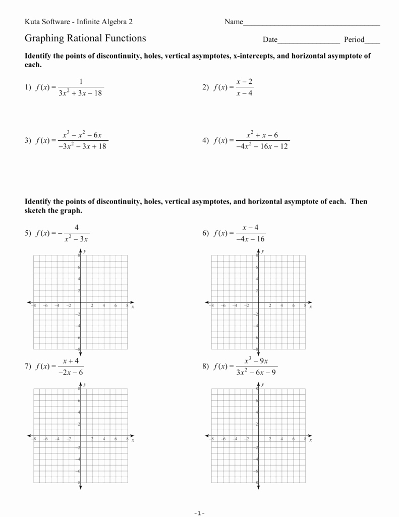 Graphing Rational Functions Worksheet Best Of Graphing Rational Functions Ks Ia2