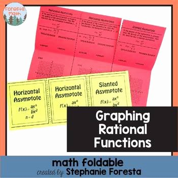 Graphing Rational Functions Worksheet Elegant Graphing Rational Functions Foldable by foresta Math