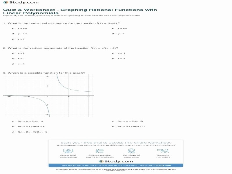 Graphing Rational Functions Worksheet Elegant Graphing Rational Functions Worksheet and Answers Free