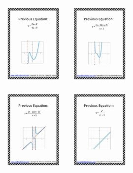 Graphing Rational Functions Worksheet New Graphing Rational Functions Scavenger Hunt by Math to the