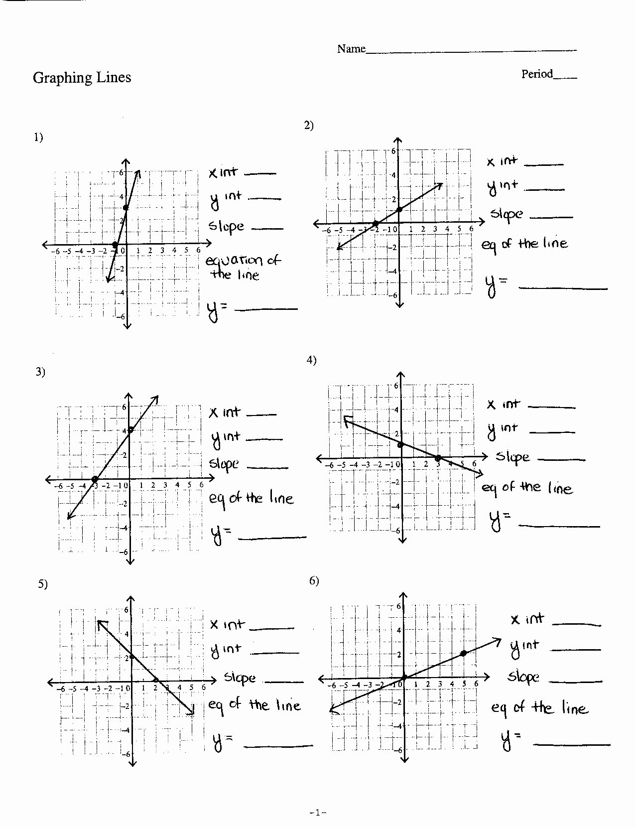 Graphing Slope Intercept form Worksheet Beautiful Graphing Equations In Slope Intercept form Worksheet