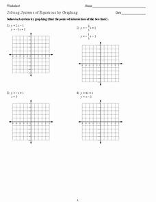 Graphing Systems Of Equations Worksheet Elegant solving Systems Of Equations by Graphing 9th 11th Grade