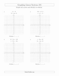 Graphing Systems Of Equations Worksheet Lovely solve Systems Of Linear Equations by Graphing Standard