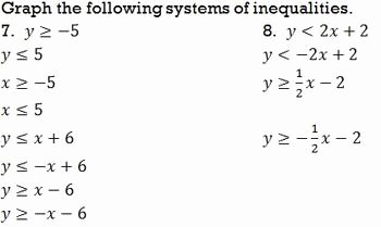 Graphing Systems Of Inequalities Worksheet Awesome Systems Of Inequalities Graphing Worksheet by Bill Bihn