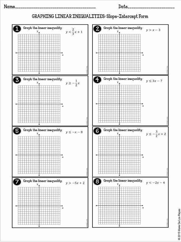 Graphing Systems Of Inequalities Worksheet Elegant Graphing Linear Inequalities Worksheet