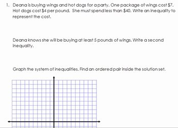 Graphing Systems Of Inequalities Worksheet Elegant Graphing Systems Of Inequalities From A Word Problem