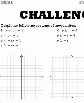 Graphing Systems Of Inequalities Worksheet New Systems Of Inequalities Graphing Worksheet by Bill Bihn
