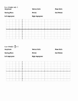 Graphing Trig Functions Practice Worksheet Best Of Graphing Trig Functions Worksheets by Nicole Keith