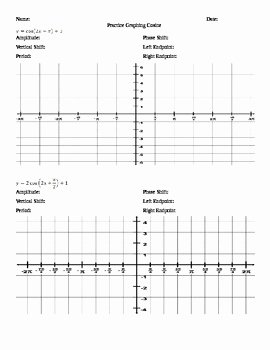 Graphing Trig Functions Practice Worksheet Luxury Graphing Trig Functions Worksheets by Nicole Keith