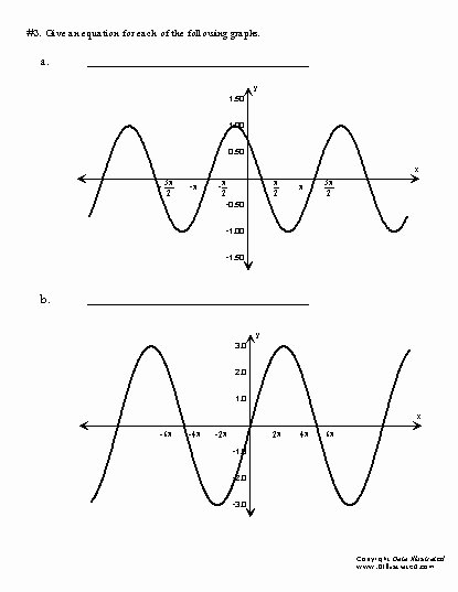 Graphing Trig Functions Worksheet Beautiful Trig Worksheets
