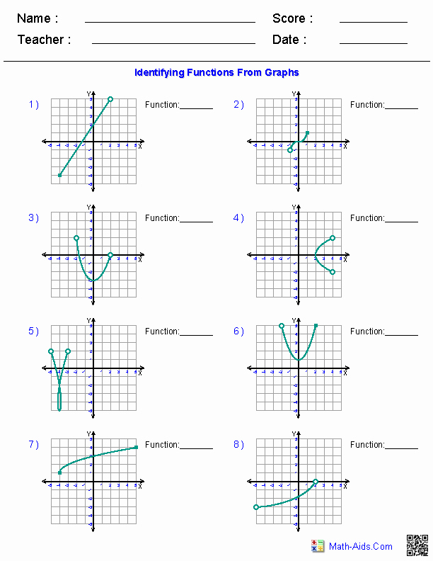 Graphs Of Functions Worksheet Beautiful Algebra 1 Worksheets