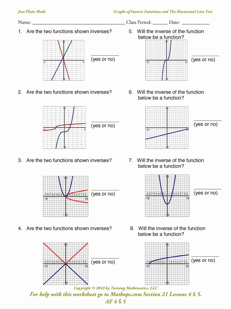 Graphs Of Functions Worksheet Lovely 31 Best Images About Math Class On Pinterest