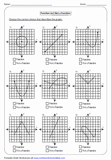 Graphs Of Functions Worksheet Lovely Function Worksheets