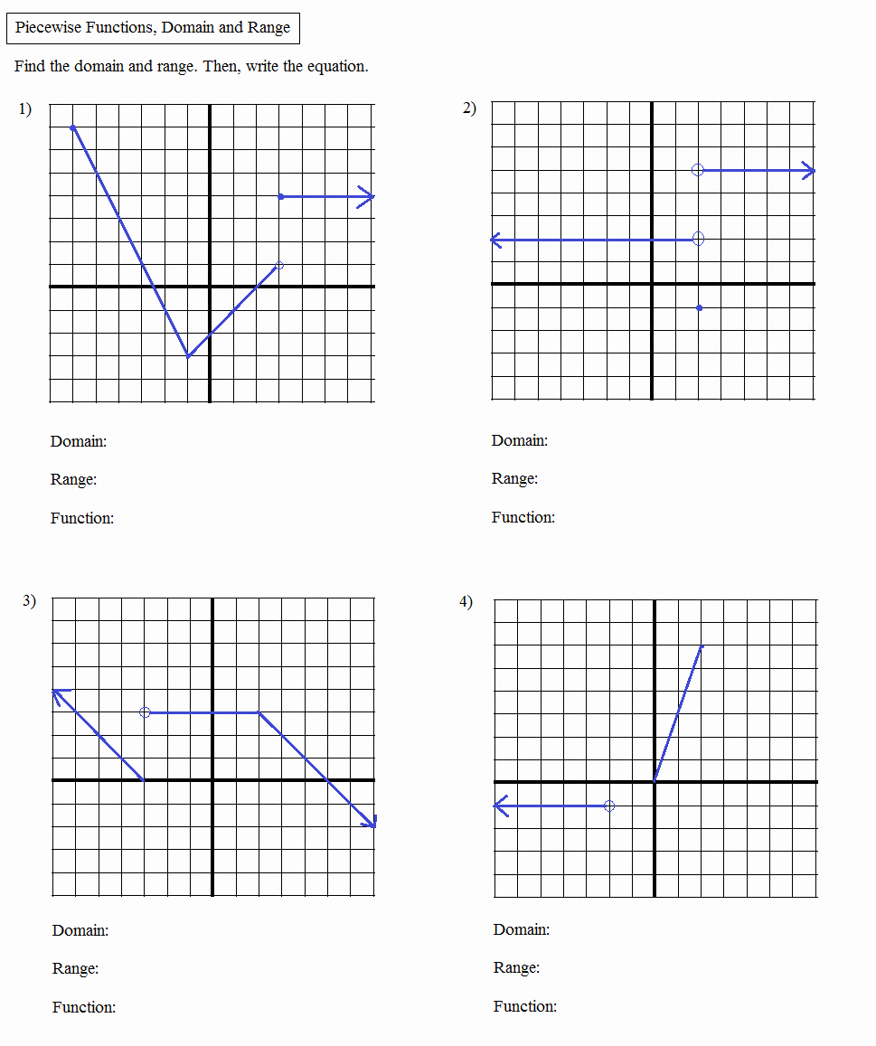 Graphs Of Functions Worksheet New Math Plane Algebra Review 2