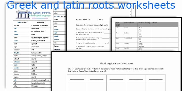 Greek and Latin Roots Worksheet Inspirational English Teaching Worksheets Greek and Latin Roots