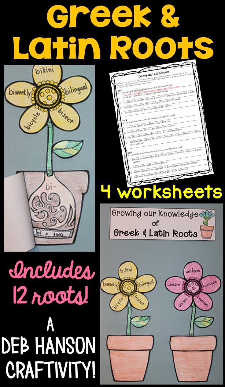 Greek and Latin Roots Worksheet Lovely 895 Best Language Arts Images On Pinterest