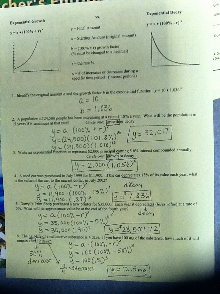 Growth and Decay Worksheet Elegant Exponential Growth and Decay Word Problems Worksheet Pdf