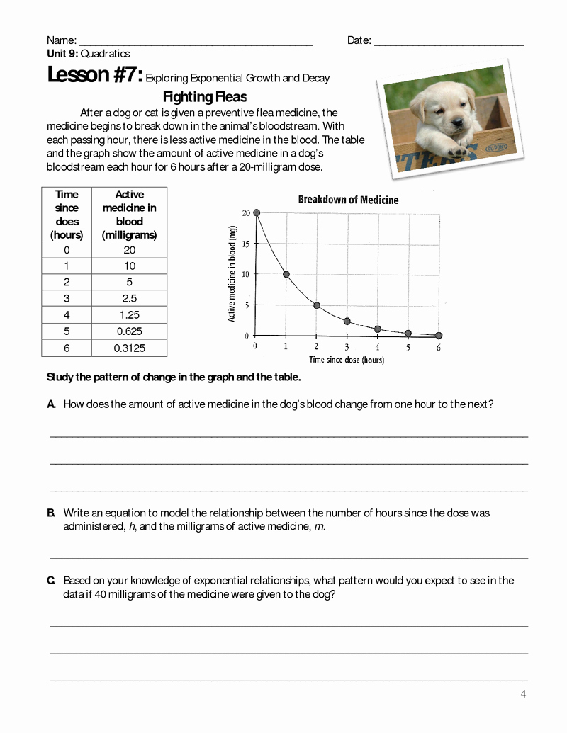 Growth and Decay Worksheet Fresh Exponential Growth and Decay Explorations Ballots