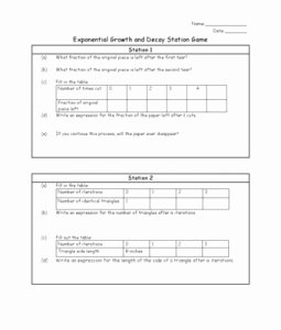 Growth and Decay Worksheet Luxury 10 Best Ideas About Exponential Growth On Pinterest