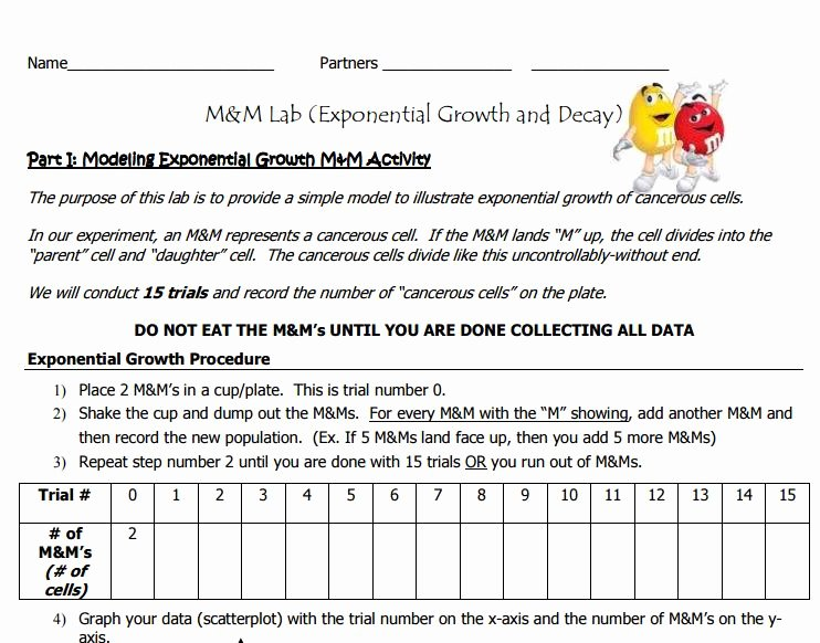 Growth and Decay Worksheet Luxury Exponential Growth and Decay Practice Worksheet the Best