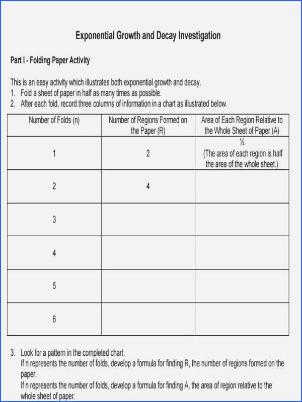 Growth and Decay Worksheet Luxury Exponential Growth and Decay Worksheet