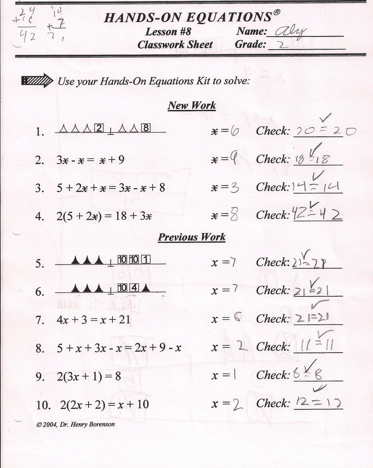 Hands On Equations Worksheet Beautiful Homeschool Ninjas Algebra is Fun