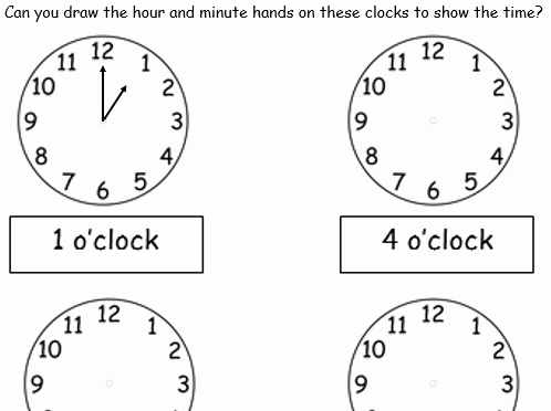 Hands On Equations Worksheet Best Of O Clock Drawing Hands On Clocks 2 Worksheets by Tar00