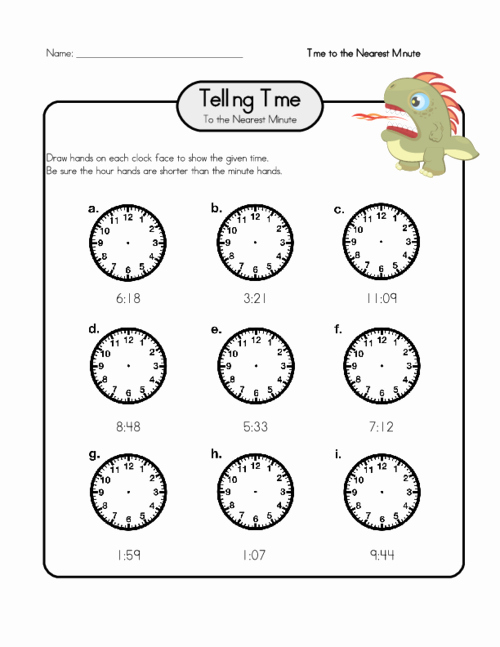 Hands On Equations Worksheet Inspirational Draw Hands On A Clock 2 Telling Time Worksheets