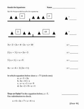 Hands On Equations Worksheet Lovely solving Equations Simplifying Practice Worksheets Algebra