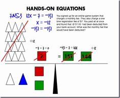 Hands On Equations Worksheet New 7th Grade Math On Pinterest