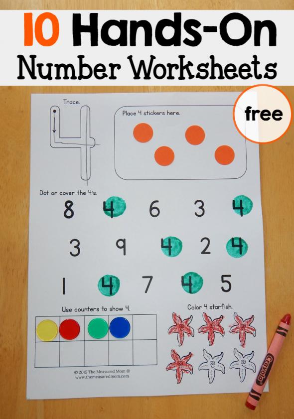 Hands On Equations Worksheet New Free Number Worksheets 1 10 the Measured Mom