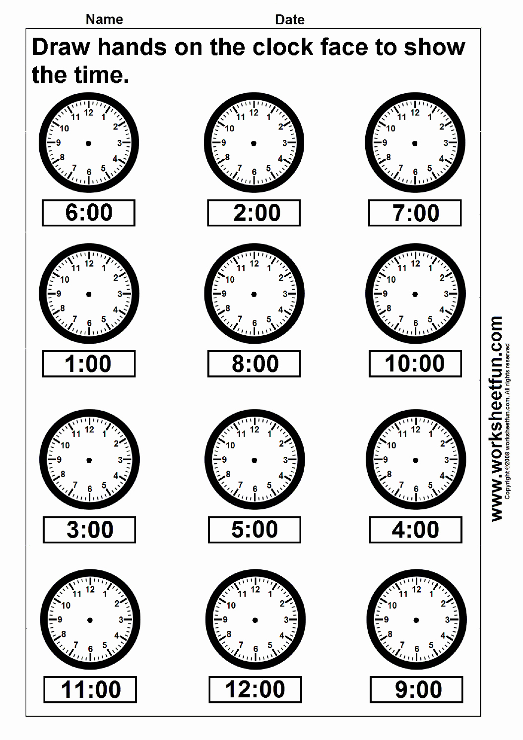 Hands On Equations Worksheet Unique Time – Draw Hands On the Clock Face – 4 Worksheets Free