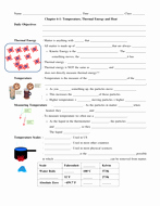 Heat and Temperature Worksheet Best Of 6 1 thermal Energy Heat and Temperature Powerpoint
