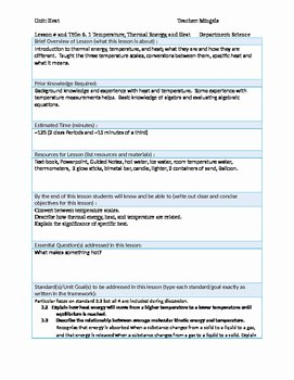 Heat and Temperature Worksheet Fresh Physics 6 1 thermal Energy Heat and Temperature Lesson