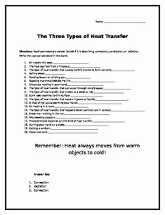 Heat Transfer Worksheet Answer Key Inspirational Bill Nye Heat Video Questions Bill Nye