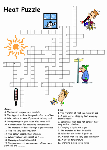Heat Transfer Worksheet Answer Key Lovely Heat Transfer Crossword Puzzle by Physics Teacher