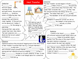 Heat Transfer Worksheet Answer Key New Heat Transfer Revision Resources by Sea